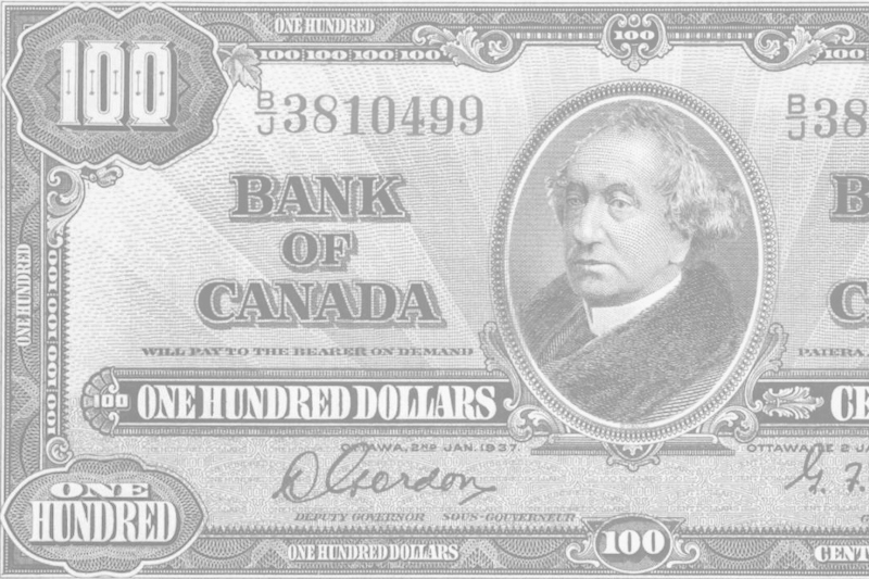 One Hundred Dollar Bill Canadian 1937