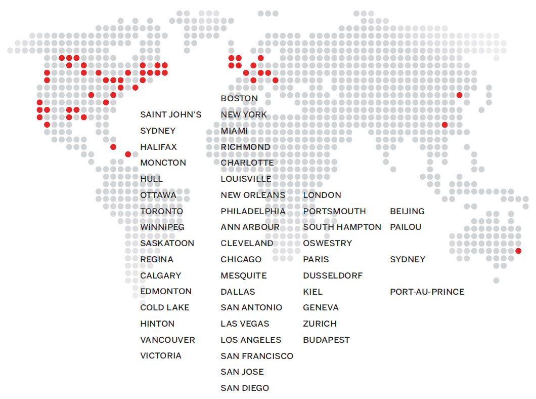 Q1 Capital Global Client Map